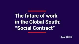 "AFD Conference ""The future of work in the Global South – Social Contract"""