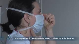Mettre un masque chirurgical